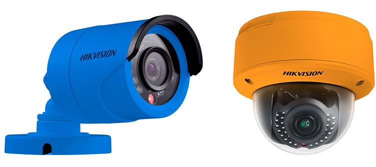 Камеры видеонаблюдения в цветных корпусах